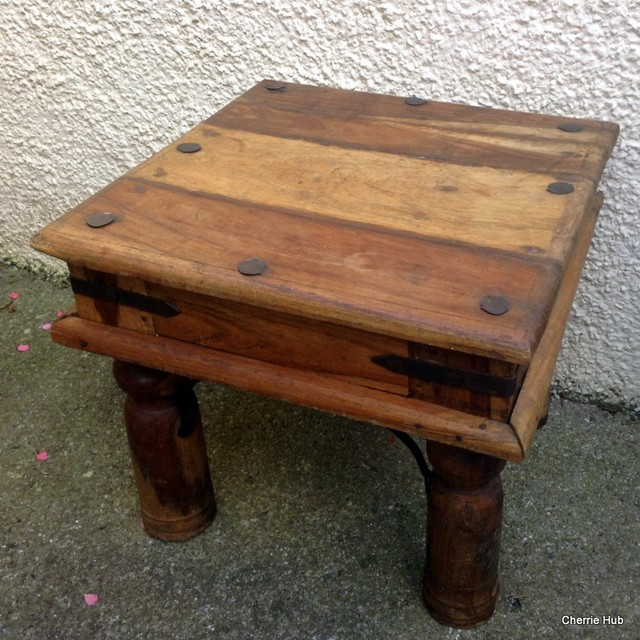 Rustic Mexican Pine Table Small Side Table