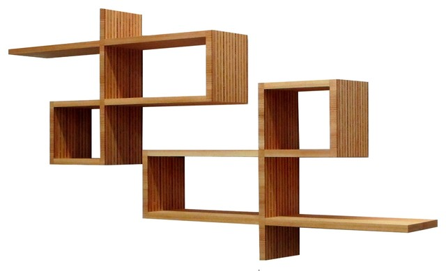 home office contemporary display and wall shelves