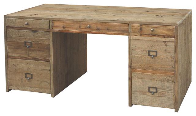 Contemporary Wood Desks Hughes salvaged wood desk - contemporary ...