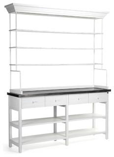Industrial metal large display shelf bakers rack industrial baker