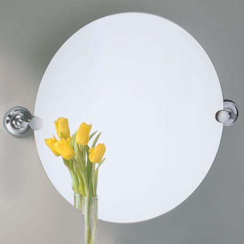 20 Designer Ii Round Tilting Mirror Chrome Modern