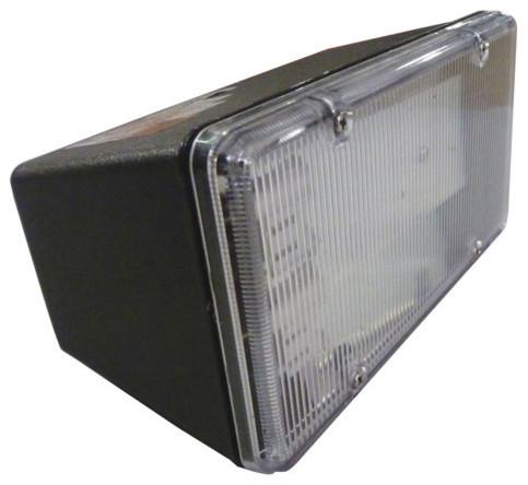 black two light outdoor fluorescent flood light. Black Bedroom Furniture Sets. Home Design Ideas