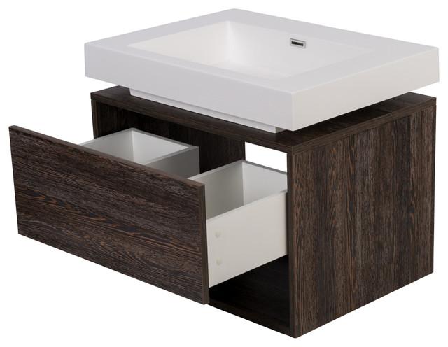 27 gabbro modern wall hung bathroom vanity sink modern bathroom vanities and sink - Moderne consoles ...