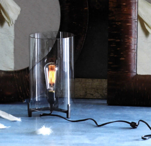 Clear glass edison light lamp eclectic table lamps by haus interior - Roost edison lamp ...