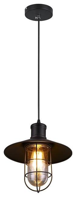 Umbrella Shade Pendant Light Black