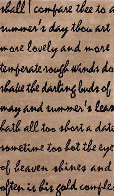 nuLOOM Handmade Poem Wool Rug (8' x 10') - Contemporary - Rugs - by ...