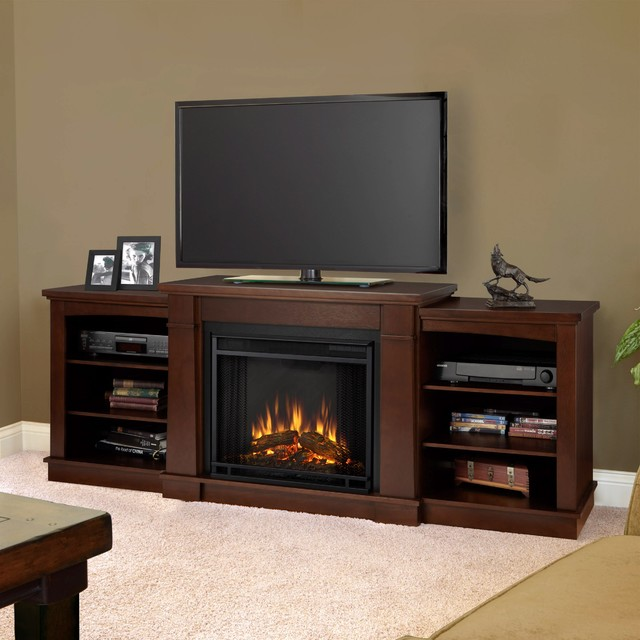 Real Flame Hawthorne Dark Espresso Media Center And Electric Fireplace Contemporary Indoor