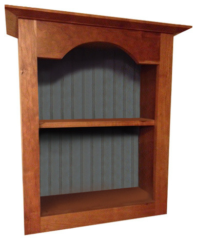 ... Cherry Wood Tombstone Display Wall Cupboard farmhouse-pantry-cabinets