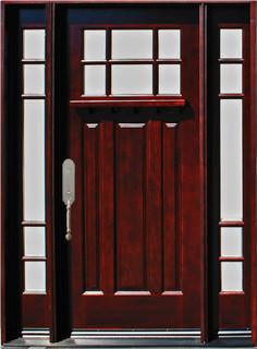 """Exterior Front Wood Door M31 1D+2SL 12""""-36""""x80"""", Right Hand Swing In - Craftsman - Front Doors ..."""