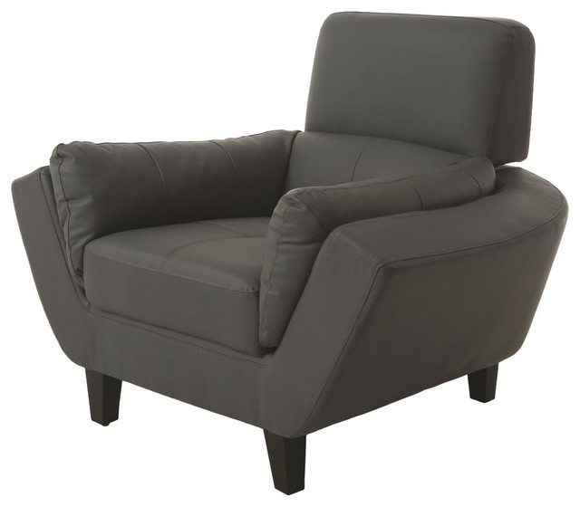 pastel new zealand club chair in bonded split gray contemporary