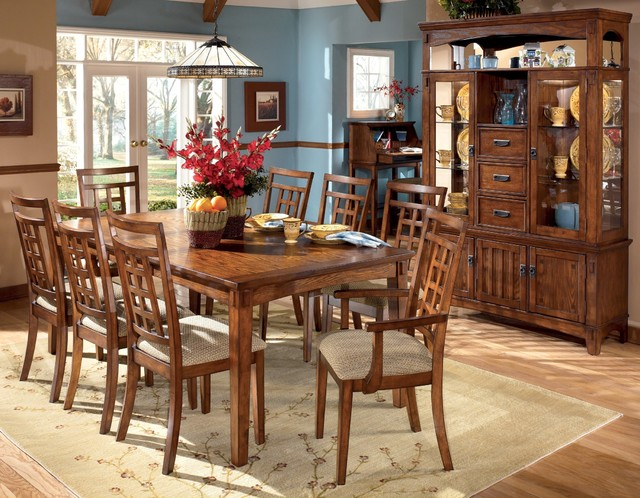 Ashley Cross Island Dining Room Collection Country
