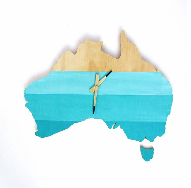 Wall clock australia deep blue sea eclectic wall clocks other metro by one sunday morning Home decor wall decor australia
