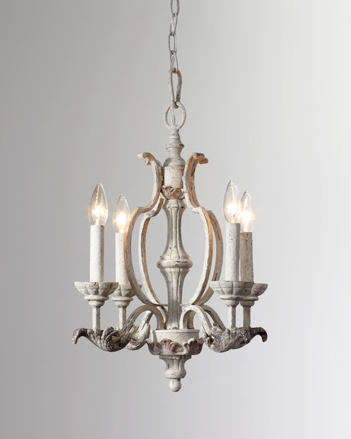 Romantic Florence Persian White Mini Chandelier