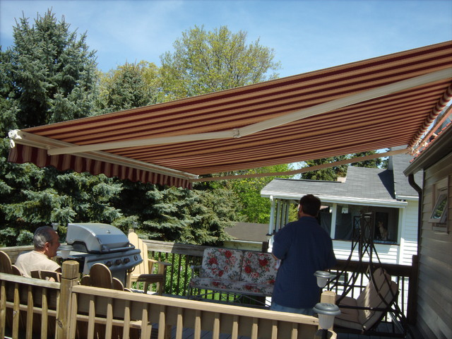 Awnings Retractable And Fixed Amp Sunshades Traditional