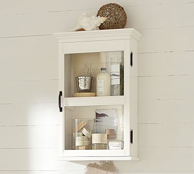 Franklin Wall Cabinet Antique White Traditional