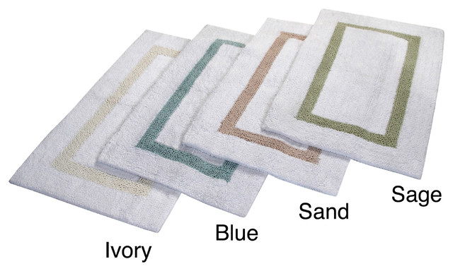 Hotel collection cotton reversible luxury bath rug contemporary bath mats by for Hotel collection bathroom rugs