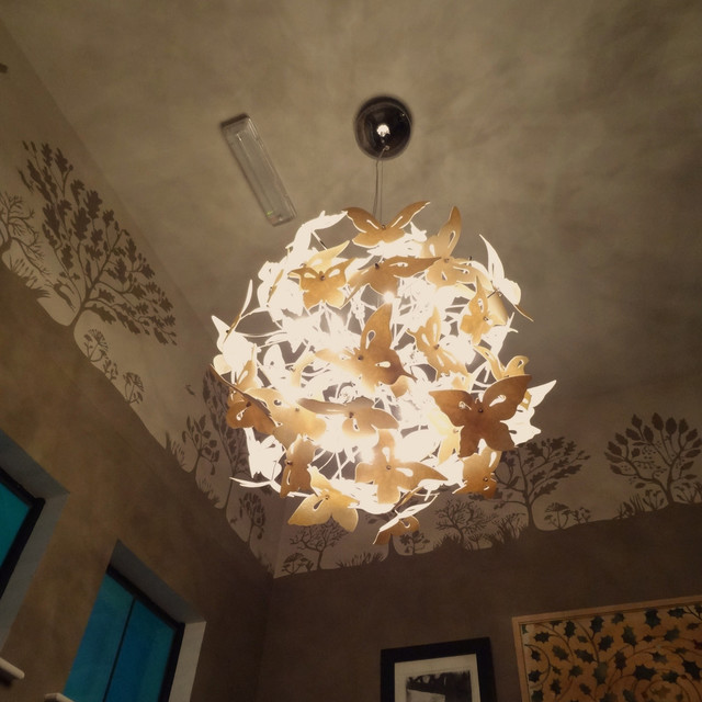 Spring Butterflies Chandelier Eclectic Chandeliers Other By Inspaces
