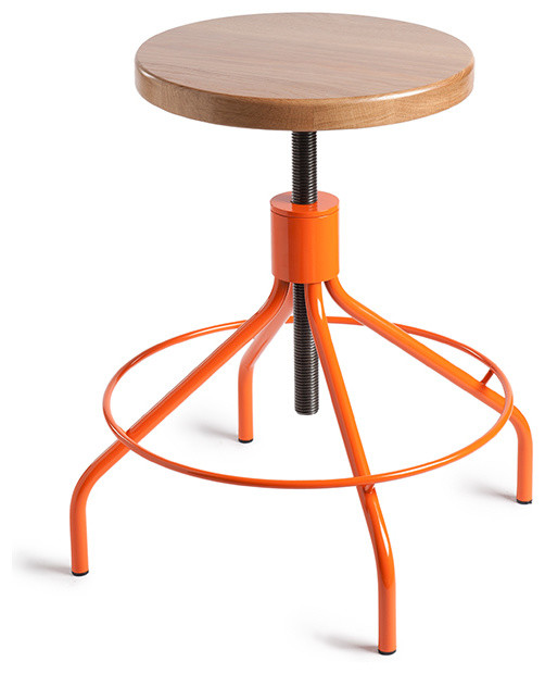 Sputnik Stool Orange Natural Environment Modern