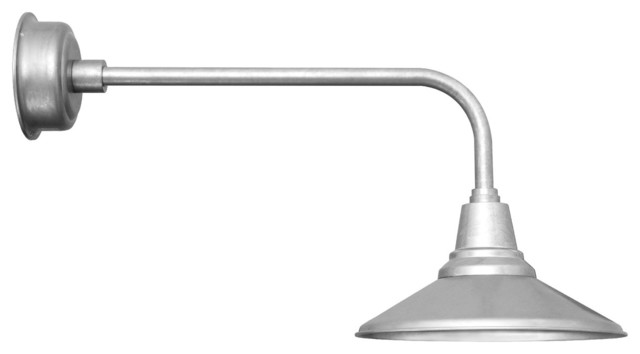 Calla LED Barn Light With Traditional Stem Galvanized 12 Contempora