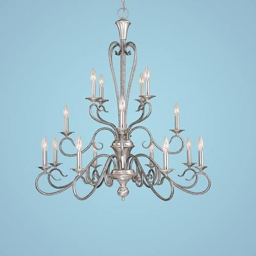 Devonshire Satin Nickel Silvermist Sixteen Light