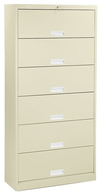 HON 626 Series 6-Shelf Lateral Door File Cabinet ...