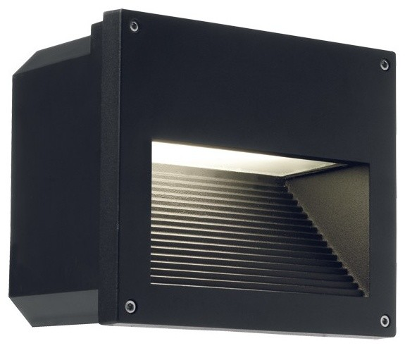 Clara Recessed Wall Light in Black - Contemporary - Outdoor Wall Lights And Sconces - melbourne ...