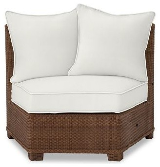 Palmetto Armless Chair Rounded Sectional Cushion Slipcover