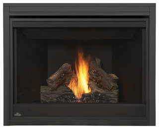 Direct Vent Clean Face Gas Fireplace Kit Blower And Panel Traditional Indoor Fireplaces