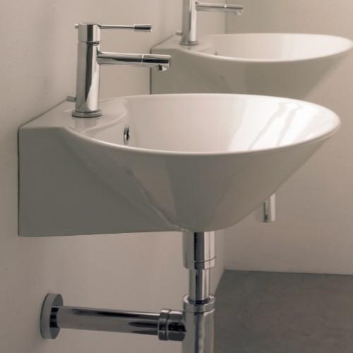 Cono Wall-Mounted Sink - Modern - Bathroom Sinks - by YBath