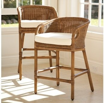 Counter Height Wicker Chairs : Rattan Barstool Pottery Barn - Traditional - Bar Stools And Counter ...