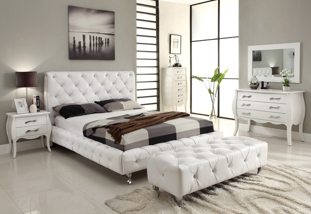 white platform bed set 2