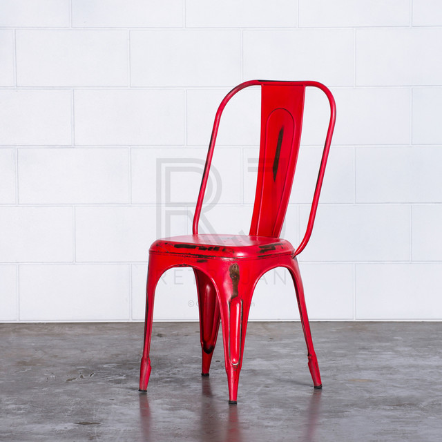 FRANKIE CAFE DINING CHAIRS RED Industrial Melbourne By Retrojan