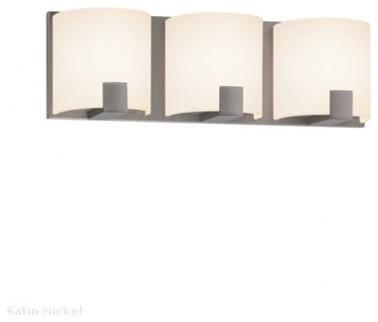 C shell 3 light bath bar modern bathroom vanity lighting by interior deluxe for Chapter 3 light bar bathroom light