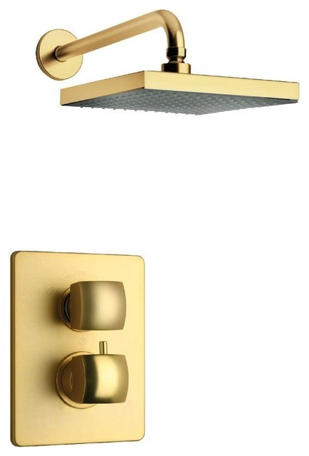 Lady Satin Gold Shower Combo 2 Contemporary Bath Shower Tap Sets
