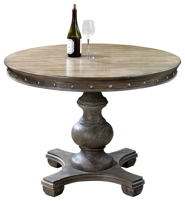 Sylvana Round Table Traditional Dining Tables By