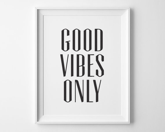 Good Vibes Only Inspirational Print By Sweet Peony Press