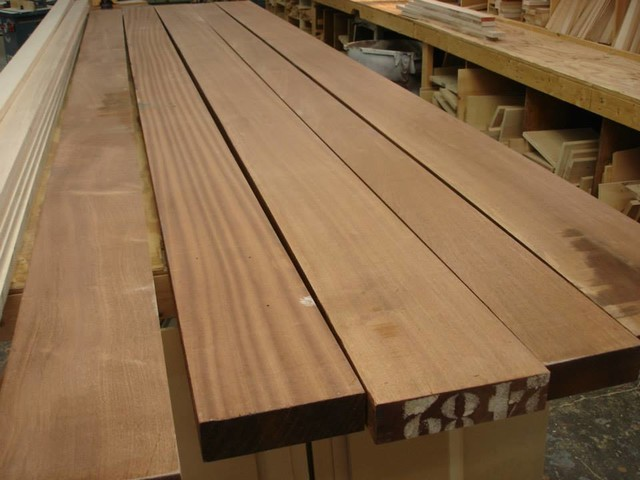 Making a solid wood countertop traditional kitchen for Builder oak countertop