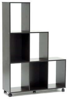Baxton Studio Hexham Rolling Display Shelving Unit - Modern - Display And Wall Shelves - other ...