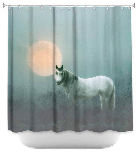 Dianoche Designs Shower Curtain By Monika Strigel Unicorn Contemporary Shower Curtains