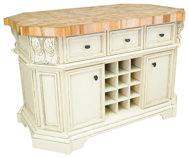 Hardware Resources Isl06 Kitchen Island Without Top Antique White Traditional Kitchen