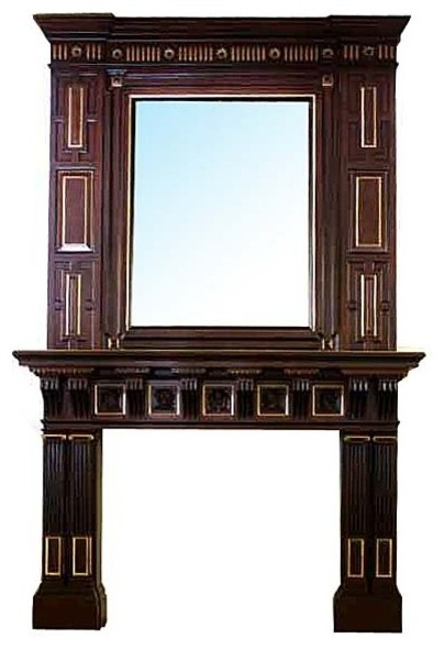 Consigned Antique Mahogany Mantel And Over Mirror Fireplace Mantels By Antiquarian Traders