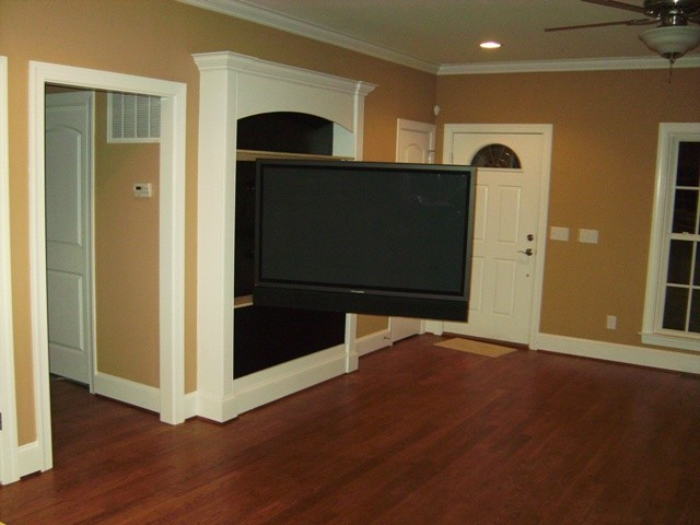 Newton Living room HDTV & Surround Sound Installation - Traditional - Living Room - wilmington ...