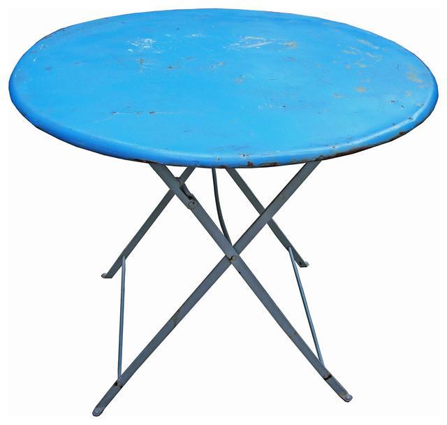 Vintage French Blue Table Mediterranean Dining Tables  : mediterranean dining tables from www.houzz.co.uk size 640 x 608 jpeg 67kB