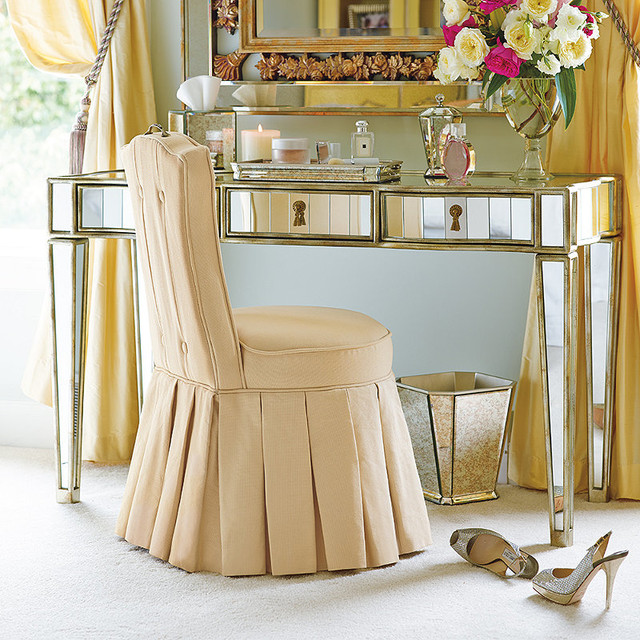 elena vanity stool taupe contemporary dressing table