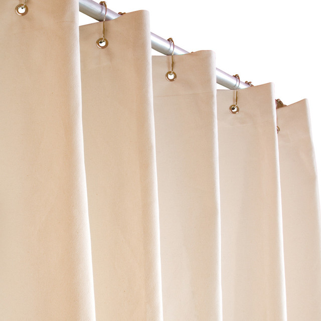 Modern Curtain Styles Ideas White Cotton Shower Curtain