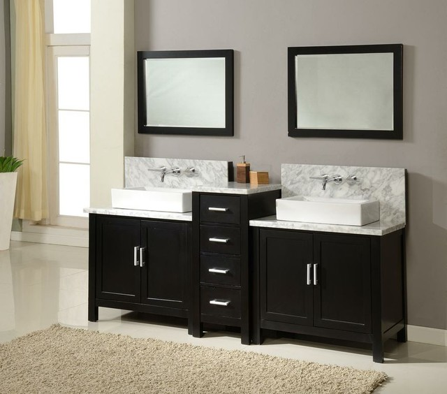 84 Quot Double Bathroom Sink Set Wall Mount Faucets