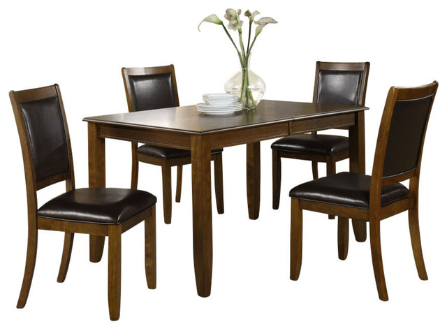 Monarch specialties 5 piece 72 x 36 dining room set in for Dining room tables 36 x 72