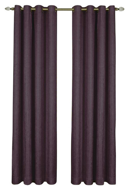 Taylor Lined Grommet Panel 50 X63 Aubergine Curtains By Achim Importing Co