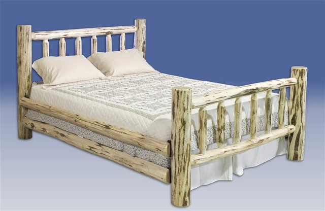 Montana Log Bed Twin In Lacquer Rustic Panel Beds By