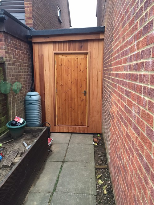 Narrow area in front of shed for Narrow storage shed